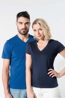 Kariban No Label Organic Herren T-Shirt mit V-Ausschnitt