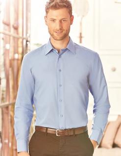 Russell Collection Herren Langarmhemd mit Ersatzknopf