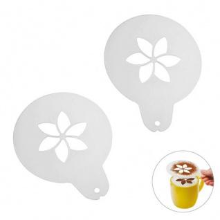 Cappuccino-Schablone Caraldo Blume 100 Stück Maße: ca. 97 x 124 x 1 mm