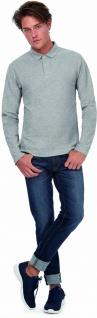 B&C Men's long-sleeved polo shirt