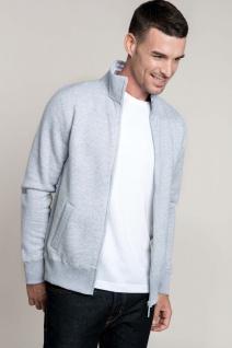 Kariban Herren Fleece-Sweater mit Reißverschluss