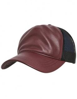 FLEXFIT Leather Trucker Cap