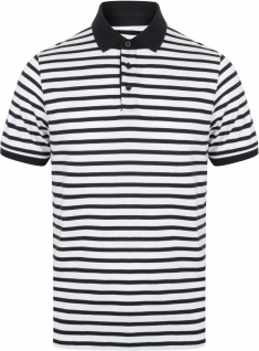 Front Row Gestreiftes Jersey-Polohemd
