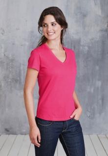 Kariban Damen Kurzarm T-Shirt mit V-Ausschnitt