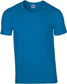 Gildan Premium Herren T-Shirt, V-Ausschnitt