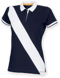 Front Row Diagonal Stripe Ladies' Polo Shirt