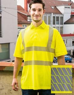 Korntex Hi-Viz Broken Reflective Polo Shirt EN ISO 20471