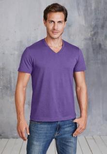 Kariban Herren Kurzarm T-Shirt mit V-Ausschnitt