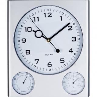 MACMA Wanduhr mit Hygrometer und Thermometer