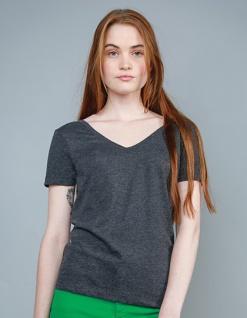 Mantis Damenshirt mit V-Ausschnitt