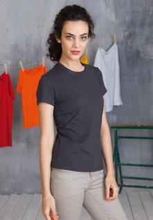Kariban Damen Kurzarm Rundhals T-Shirt