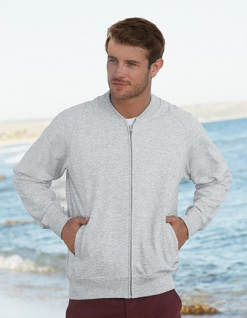 Fruit of the Loom Herren Baseball Sweat Jacke