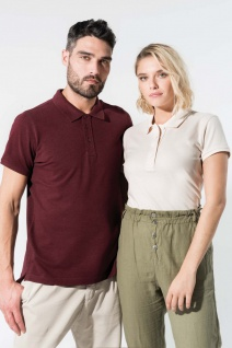 Kariban No Label Organic Herren Kurzarm-Poloshirt