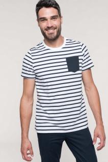 Kariban gestreiftes Kurzarm-T-Shirt für Herren