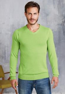 Kariban Herren V-Ausschnitt Pullover