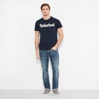 Timberland T-Shirt aus biologischem Stoff Brand Line - Vorschau 3