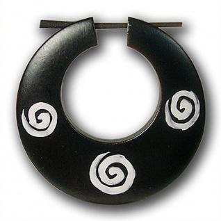 Creolen Holzohrringe holz spirale ohringe boho vintage retro ethno natur schmuck