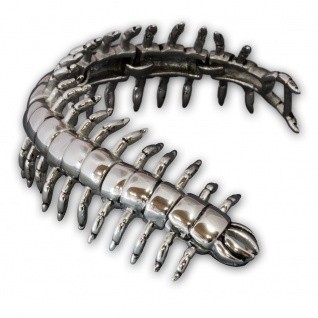 XL Edelstahl Panzer Armband Königsarmband Hunderfüßer Biker Herren Schmuck