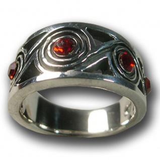 925 Silber Designer Ring Spirale tribal zirkonia celtic gothic keltisch vintage