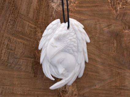 Kettenanhänger Adler Schamane Anhänger aus Knochen Indianer Western Schmuck