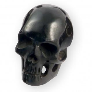 Totenkopf Perlen Anhänger Horn Holz Knochen kette armband knopf biker larp skull