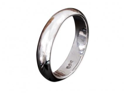 Band Ring 925 Silber Damen Herren Freundschaftsring Partnerring breit Daumenring - Vorschau 2