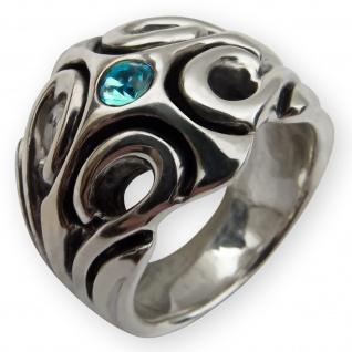 Designer 925 Silber Lilien Damen Ring fleur de lis gothic LARP mittelalter lily