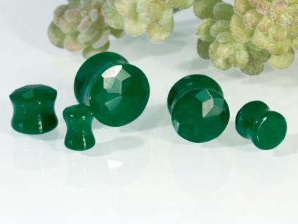 Stein Ohr Plug Grüne Jade Flesh Tunnel Stone Piercing organisch Schmuck
