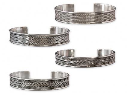 Keltischer Armreifen 925 Silber Armspange Damen Herren Schmuck Wikinger breit