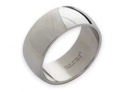Band Ring Edelstahl Damen Herren 8mm 10mm 12mm breit Daumenring Partnerringe - Vorschau 5