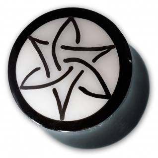 Plugs Flesh Tunnel Triskele Triquetra Knoten Piercing Schmuck Double Flared Horn