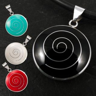 Damen Ketten-Anhänger Spirale echt Silber 925 (4 Farben) pdsi043