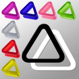 Acryl Triangle Flesh Tunnel plug ohr piercing schwarz weiss neon dreieck horn