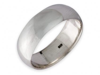 Band Ring 925 Silber Damen Herren Freundschaftsring Partnerring breit Daumenring - Vorschau 1