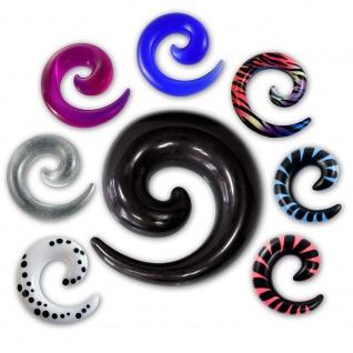 Acryl Dehnungsspirale Expander Taper Dehnspirale Dehnschnecke Dehnungssichel Set