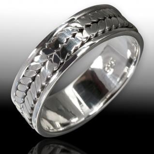 925 Silber Herren Bandring silberring gothic schmuck kelten celtic wow band ring - Vorschau 2