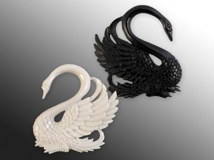 Schwan Expander Horn Dehnungsspirale Piercing Spirale Dehnsichel Ohrhänger weiß