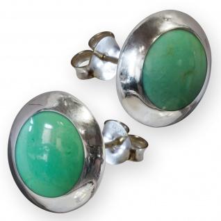 Damen Ohrstecker Stein Ohrringe Silber 925 (6 Steintypen) earsi009 - Vorschau 5