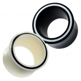 Horn Flesh Tunnel Knochen double flared Plug Hollow Eye Acryl Piercing 4-30 mm