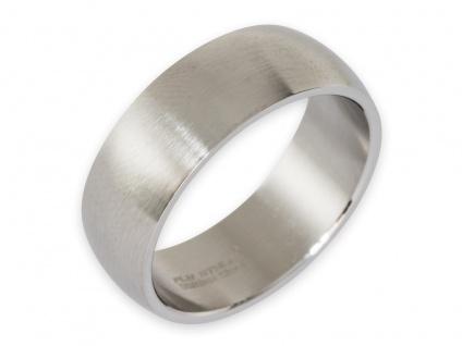 Band Ring Edelstahl Damen Herren 8mm 10mm 12mm breit Daumenring Partnerringe - Vorschau 2