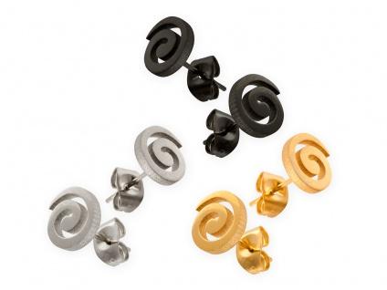 Edelstahl Ohrstecker Spirale Damen Kinder Ohrringe Spiralen klein silber gold
