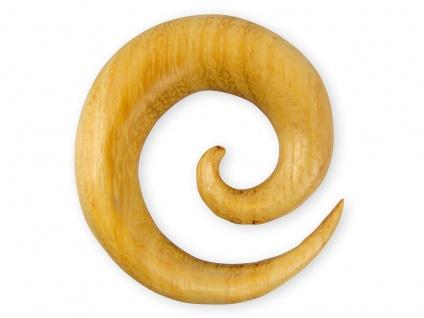 Dehnspirale Nangka Holz Schnecke Sichel Plug Piercing Expander Taper Schmuck