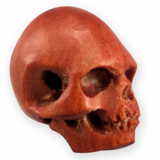 Totenkopf Perlen Anhänger Holz kette armband knopf biker larp skull