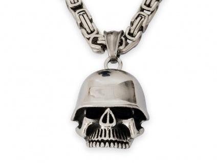 Skull Tattoo Totenkopf Anker Edelstahl- Anhänger Pirat