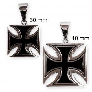 Ketten Anhänger Edelstahl Eisernes Kreuz EK Soldaten Bundeswehr schwarz silber - Vorschau 4