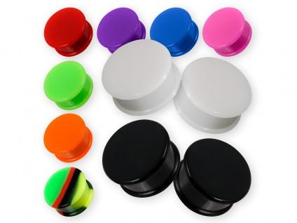 Ohr Plugs aus Silikon Flesh Tunnel Paar Hider Piercing Gummi Plug in 4-30 mm