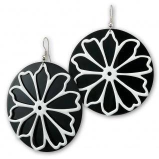 Zweiteilige Ohrhänger - Weisse Blume