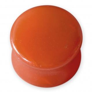 5-14mm Glas Flesh Plug ohr piercing ear tunnel tube glass stein stone karneol bh