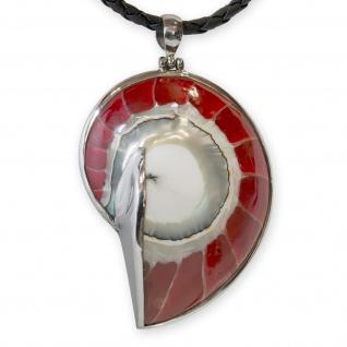925 Silber Nautilus Anhänger design damen perlmutt muschel ammonit fossil kette