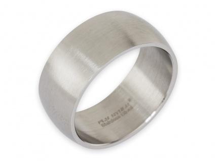 Band Ring Edelstahl Damen Herren 8mm 10mm 12mm breit Daumenring Partnerringe - Vorschau 4